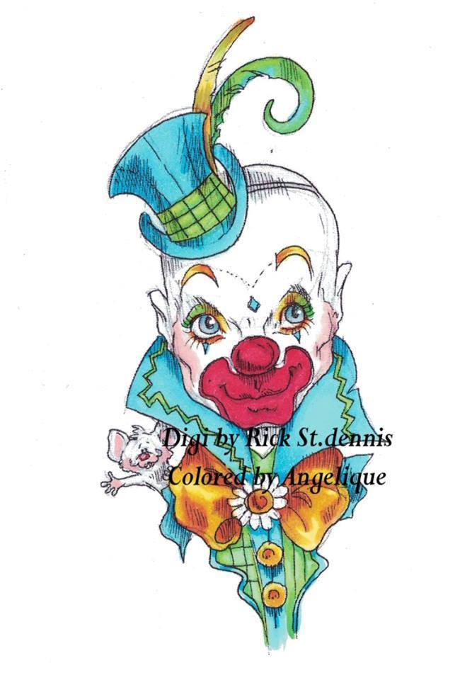 Happy Clown BURT 2015 digi stamp