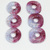 Create DIY Jewelry with Handmade Fused Glass Donut Beads in Dichroic Cranberry