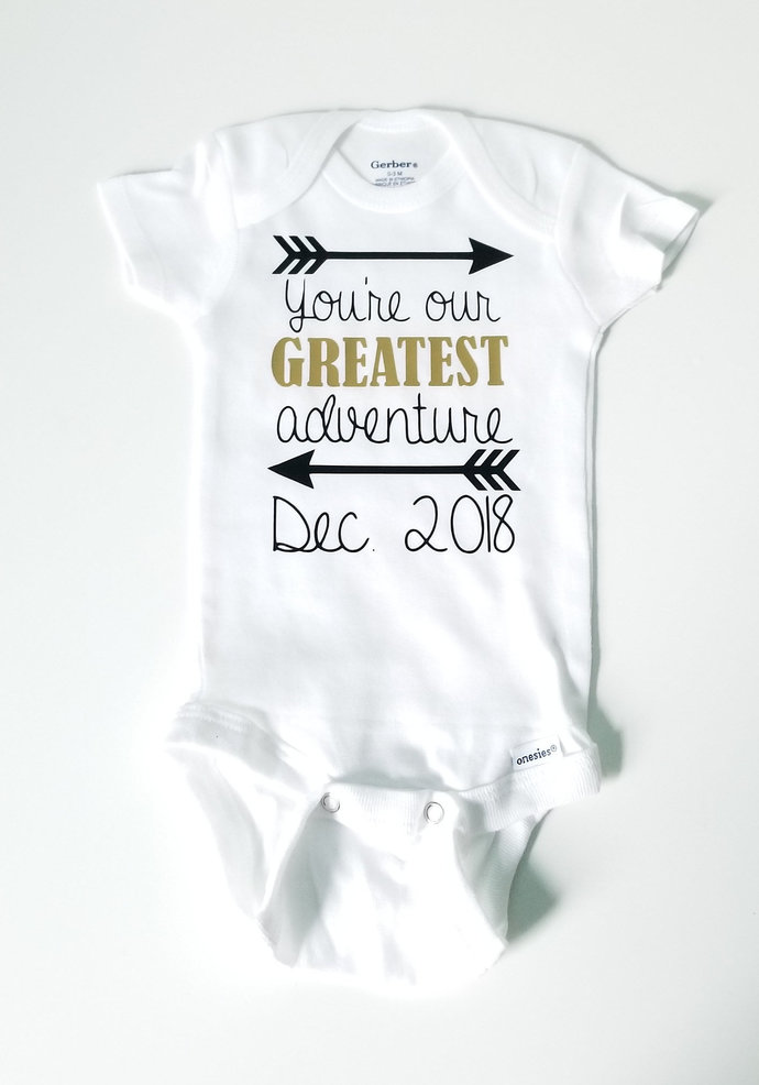 Custom You're our Greatest adventure, Pregnancy Announcement, Baby Announcement,