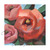Roses Original Painting, Floral Art 4x4 Inches and Free US Shipping, Gardener