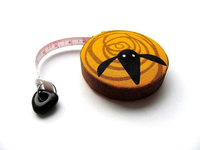 Measuring Tape Colored Swirl Sheep  Retractable Tape Measure