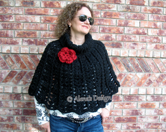 27a432eddb6 Crochet Cowl Pattern 139 - Hooded Cowl with by AlenasDesign on Zibbet