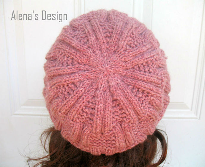 Knitting Hat Pattern 162 Danny Slouchy Hat Beanie Knitting Patterns Children
