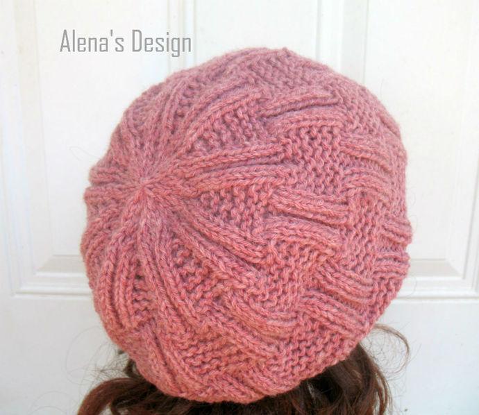 Knitting Hat Pattern 162 Danny Slouchy Hat Beanie Knitting Patterns Children
