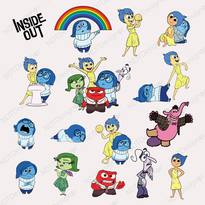 Inside Out Svg/Eps/Png/Jpg/Cliparts,Printable, Silhouette and Cricut File !!!