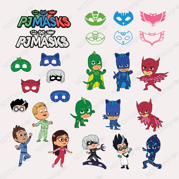 image regarding Pj Masks Printable Images called Pj masks Svg/Eps/Png/Jpg/Cliparts,Printable, Silhouette and Cricut Report !!!