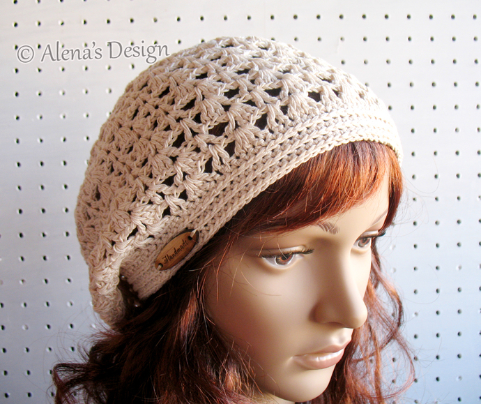 Crochet Pattern 161 Crochet Lace Slouchy By Alenasdesign On Zibbet