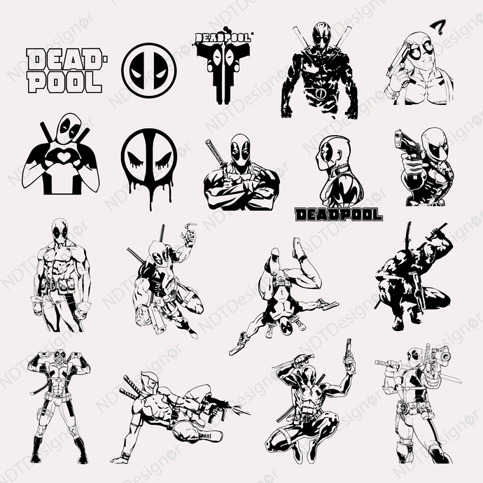 Dead Pool Svg/Eps/Png/Jpg/Cliparts,Printable, Silhouette and Cricut File !!!