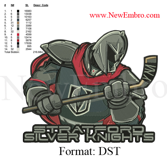 Custom embroidery design,SILVER KNIGHT Logo,Custom embroidery  embroidery