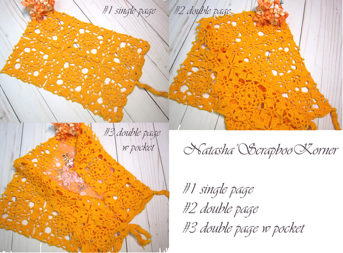 Crochet Doilies Lace Fabric Book, Crochet, Doilies, Signature/Page - Gypsy,