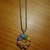 Pastel Clay Flower Pendant - Comes on a ball chain