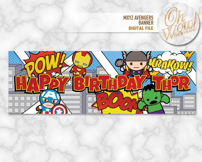 Avengers MXYZ Wide Format Backdrop: Digital File