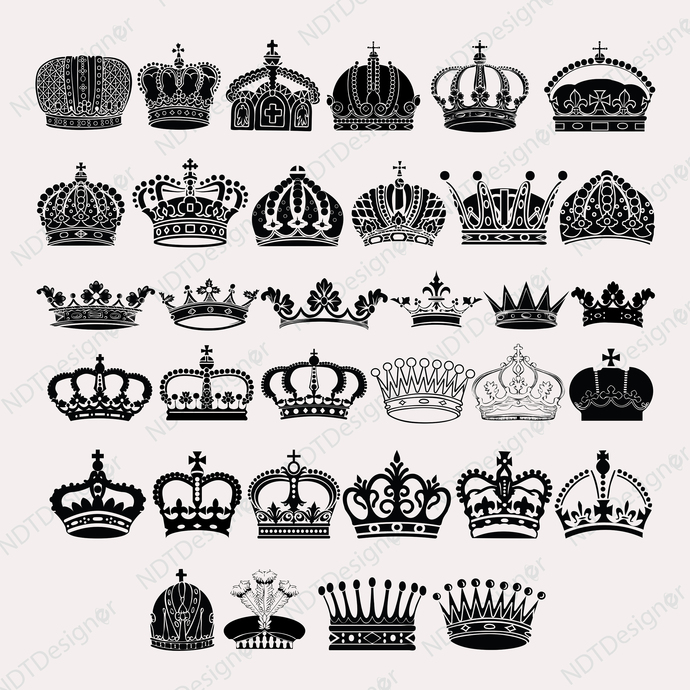 Royal crown Svg/Eps/Png/Jpg/Cliparts,Printable, Silhouette and Cricut File !!!