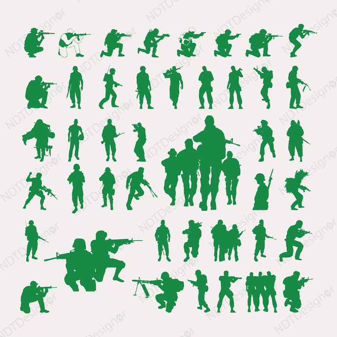 Soldier Svg/Eps/Png/Jpg/Cliparts,Printable, Silhouette and Cricut File !!!