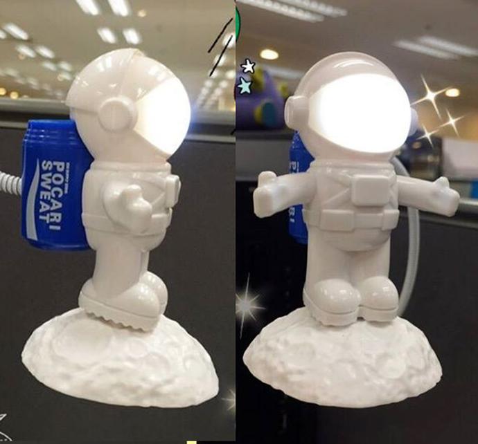 "Pocari Sweat USB Astronaut Desktop Light ""Let's Go To The Moon!"" - Hong Kong"
