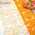 "3 pcs Crochet Square Doilies - 3.5"" Orange, Ivory stl"