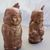 copper tone Indian salt and pepper shaker set / copper Indian figures salt