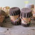 Beaded leather and wood drum salt and pepper shakers (8 shakers) / Indian drum