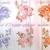 stl Boho Bridal Sequins Embroidered Lace Appliques - Lavender, Pink,