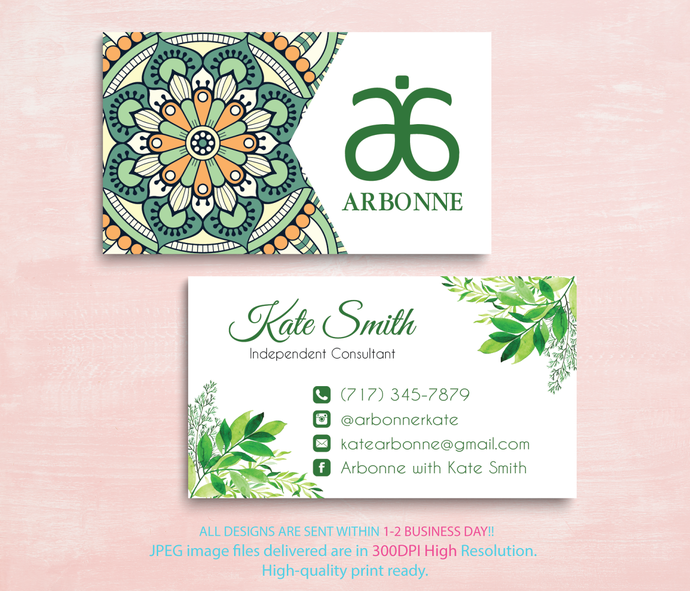 Arbonne Business Cards, Business Cards, Arbonne Consultant Cards, Free  Personalised, Arbonne Consultant, Modern Business Card, AB89