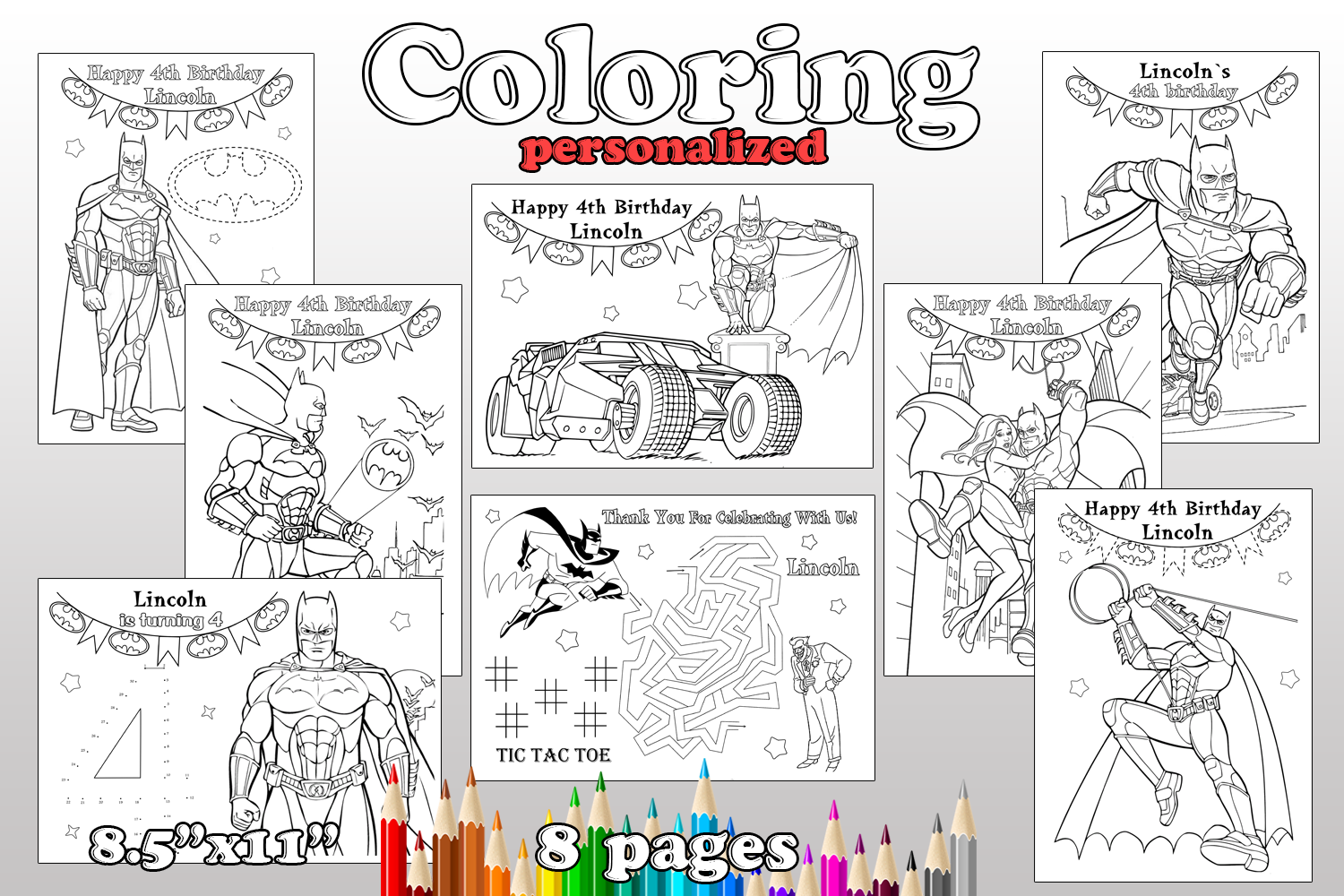 Batman birthday party favor batman coloring by magianrainbow on