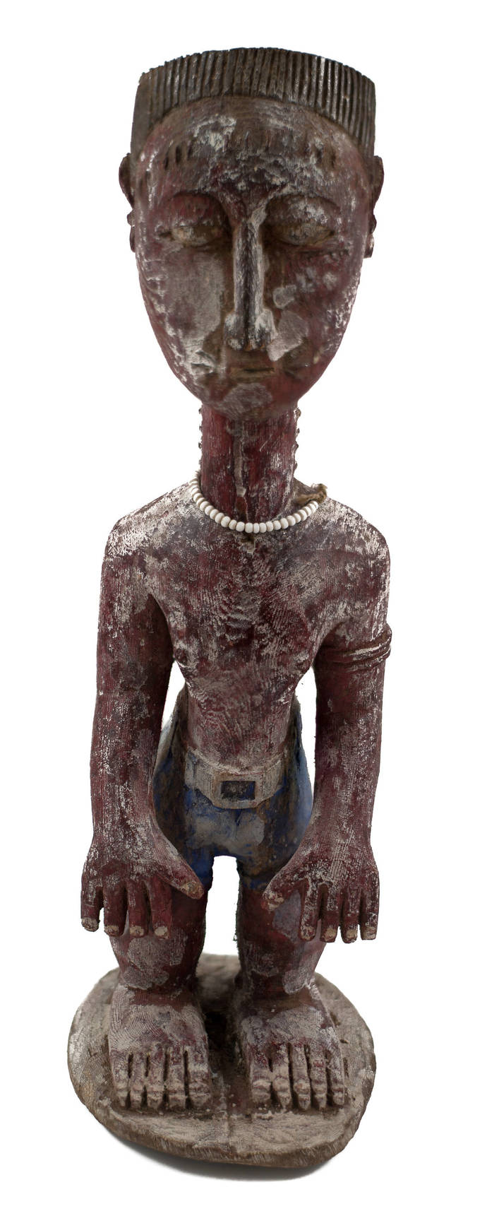 Vintage & Hand Carved, Old African Statue - Perhaps Baule, Unique african