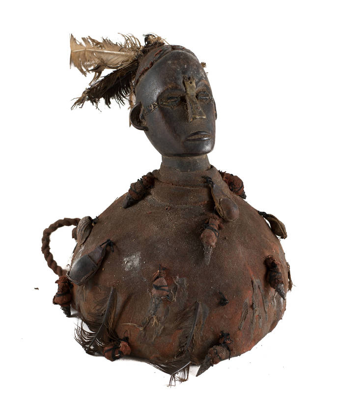 Vintage & Hand Carved, Old Magic Figure From the Congo, Unique african sculpture