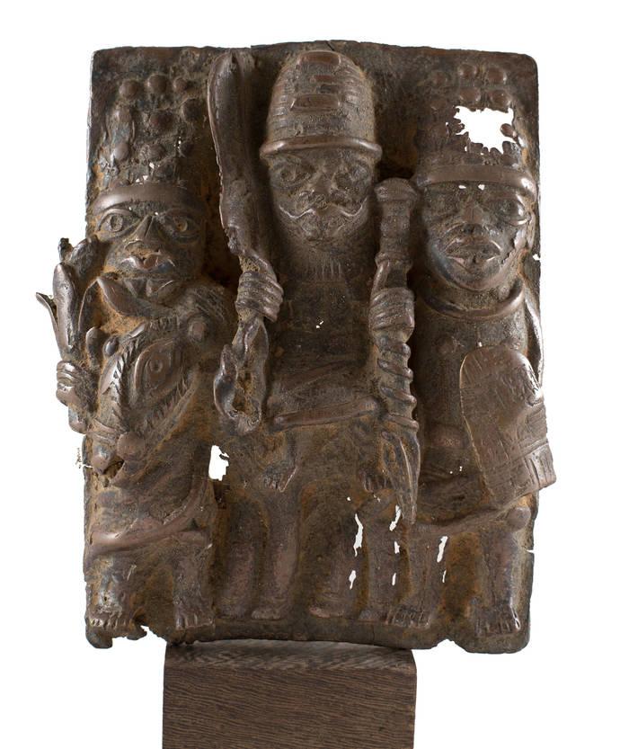 Decorative | Benin Bronze Plaaque, From Benin City, Nigeria