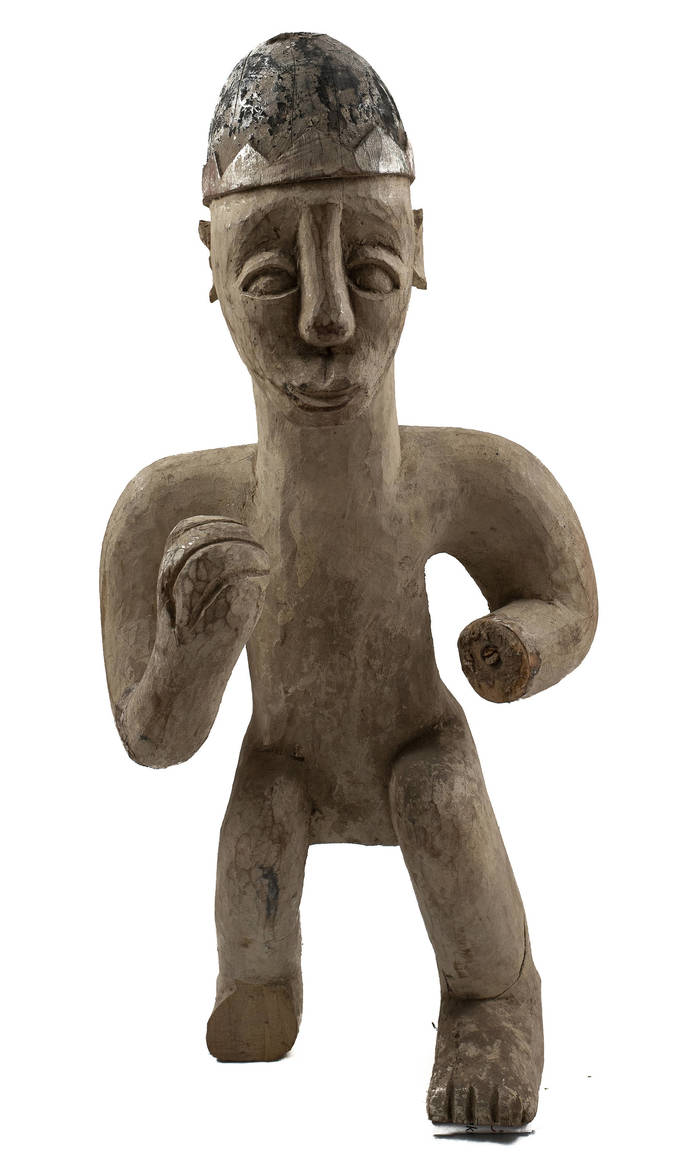 Vintage & Hand Carved, Old Congo Male Figure, Unique african sculpture 2