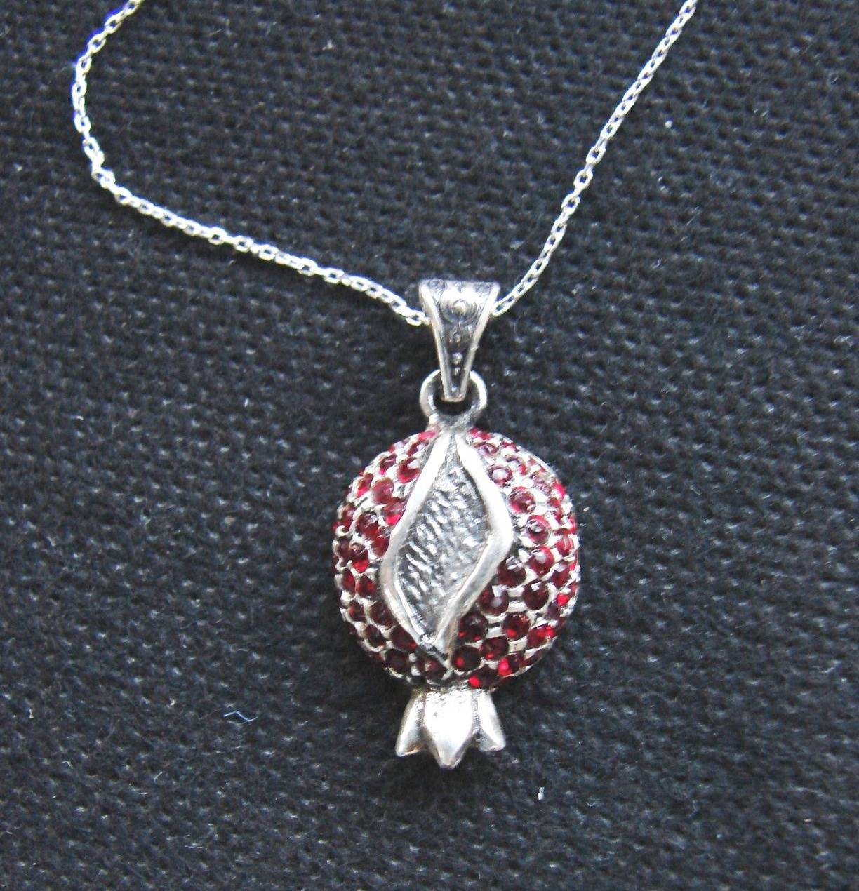 Pendant Pomegranate Sterling Silver 925 With By Armhandmade On Zibbet