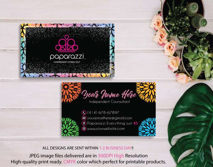 Paparazzi Business Cards, Personalized Paparazzi Business Cards, Floral