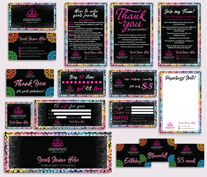 Paparazzi Marketing Kit, Personalized Paparazzi Marketing Bundle, Floral