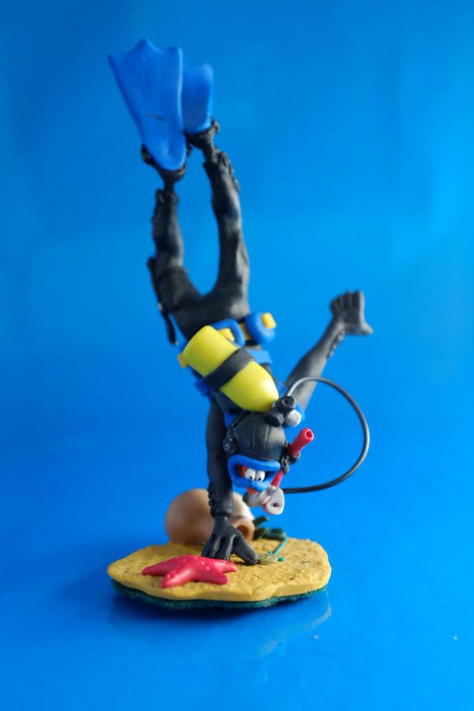 diving adventure, SCUBA Diver treasure hunter