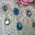 Dangle Bling Brooch Embellishment - Lt.Green, Lake Blue, Lt, Purple, White, Lt.