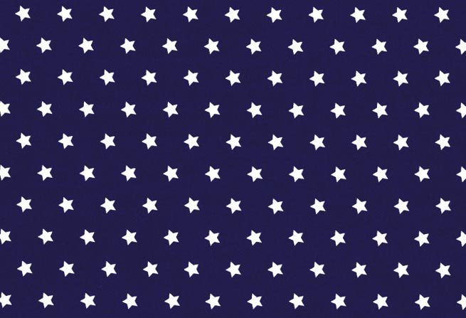 Star print craft fabric - half meter - 100% cotton - 59in wide - white on dark