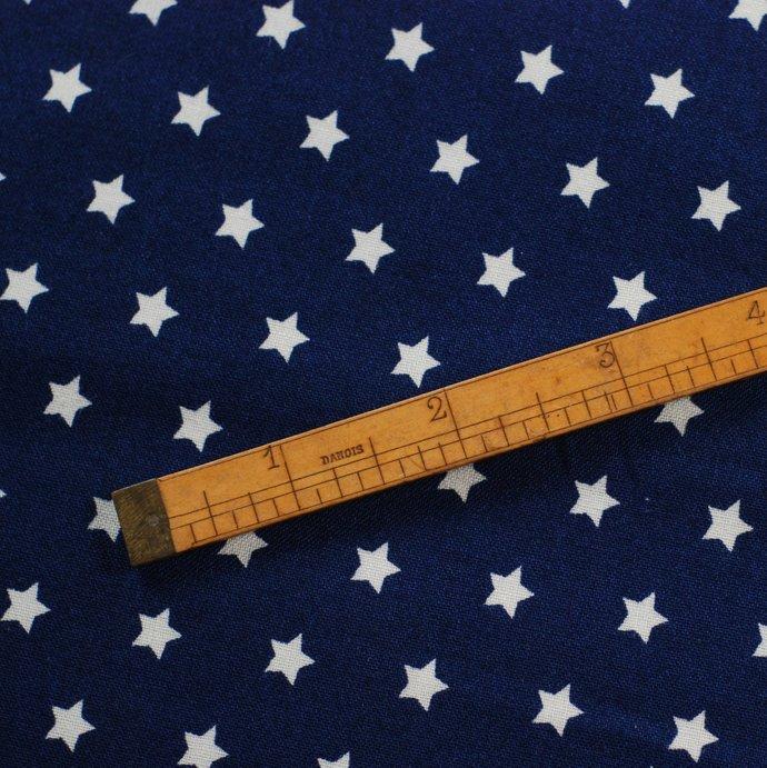 Star print craft fabric - half meter - 100% cotton - 59in wide - white on dark
