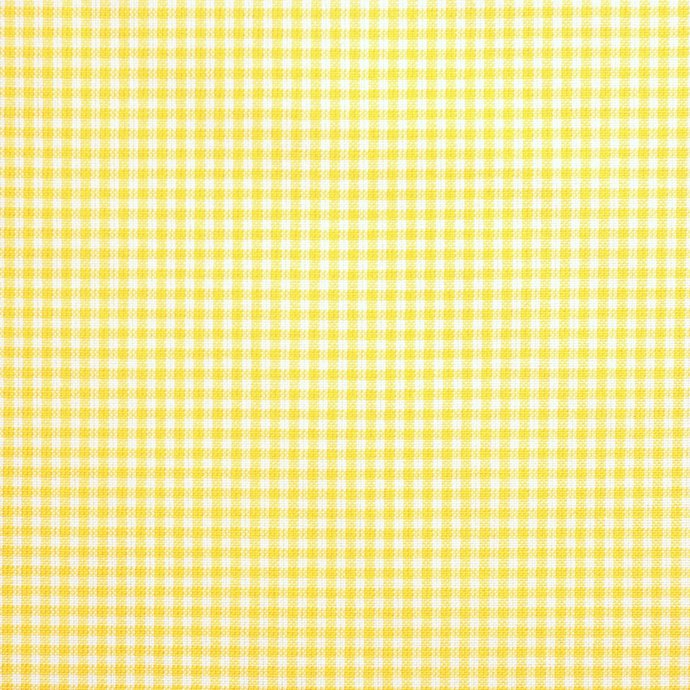 Yellow Mini Check Woven Cotton Craft Fabric - half meter - 59 inch wide - 100%
