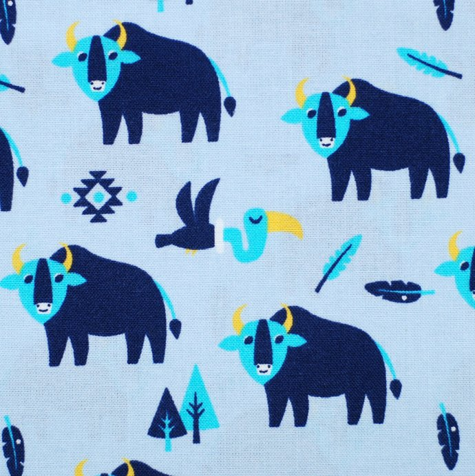 Native Indian Buffalo Print Craft Fabric - half meter - 59in width - 100% Cotton
