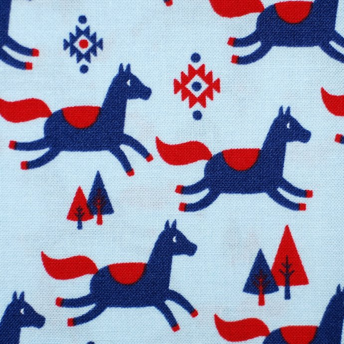 Running Horse Print Fabric - half meter - 59in wide - 100% Cotton - quilting,