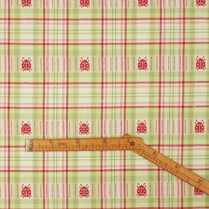 6 Fat quarter fabric bundle 100% cotton Cottage chic pink apple green stripes