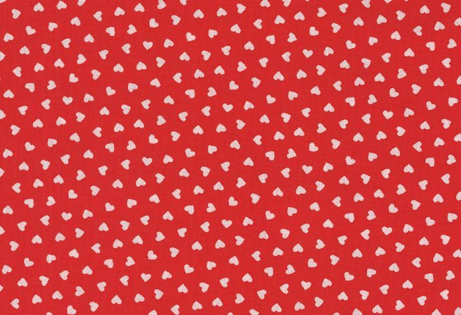 Fat quarter fabric bundle - Romantic Hearts and Red Roses - 100% cotton -