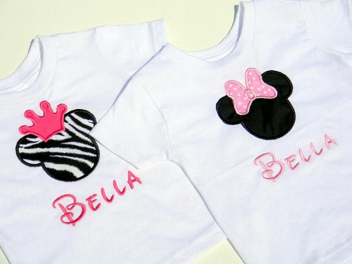 2e5e1f723 2 Personalized Minnie Mouse T-Shirt Onesie Birthday or Special Day