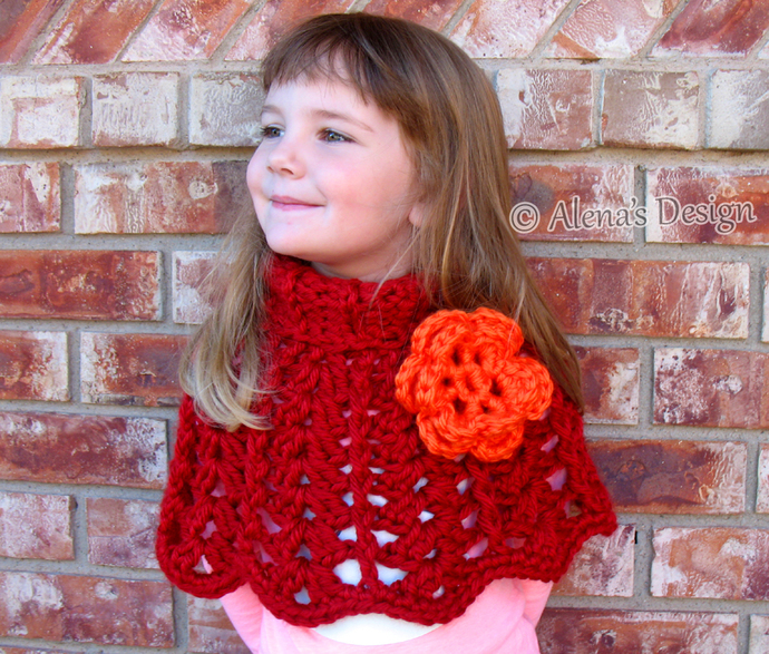Crochet Poncho Pattern Chic Rose Poncho Wrap By Alenasdesign On Zibbet