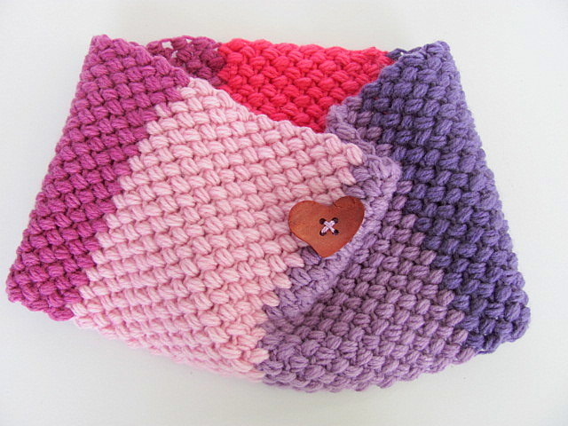 Shades of Pink and Purple Crochet Cowl Scarf