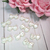 "stl 10pcs Shabby Chic Double sided Pearl Bow - 5/8"" White"