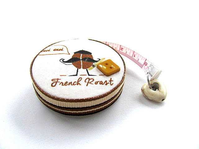 Retractable Tape Measure with Coffee Beans Measuring Tape