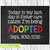 Adoption Announcement Sign, Adoption Gifts, Editable, Adoption chalkboard sign,