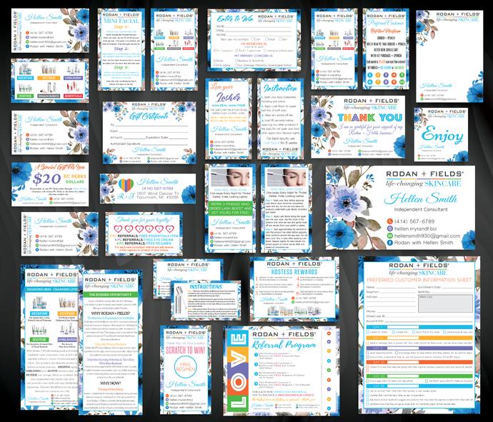Rodan and Fields Marketing Bundle, Personalized Rodan and Fields Bundle,
