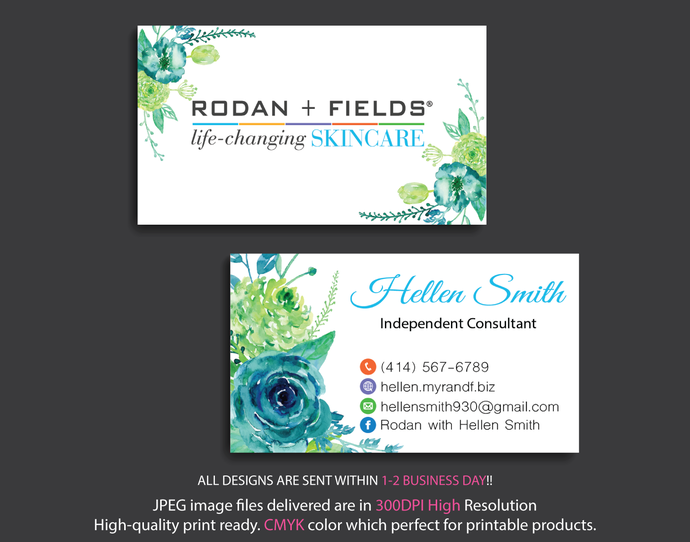 Rodan and fields business cards personalized by digitalart on zibbet rodan and fields business cards personalized rodan and fields business cards colourmoves