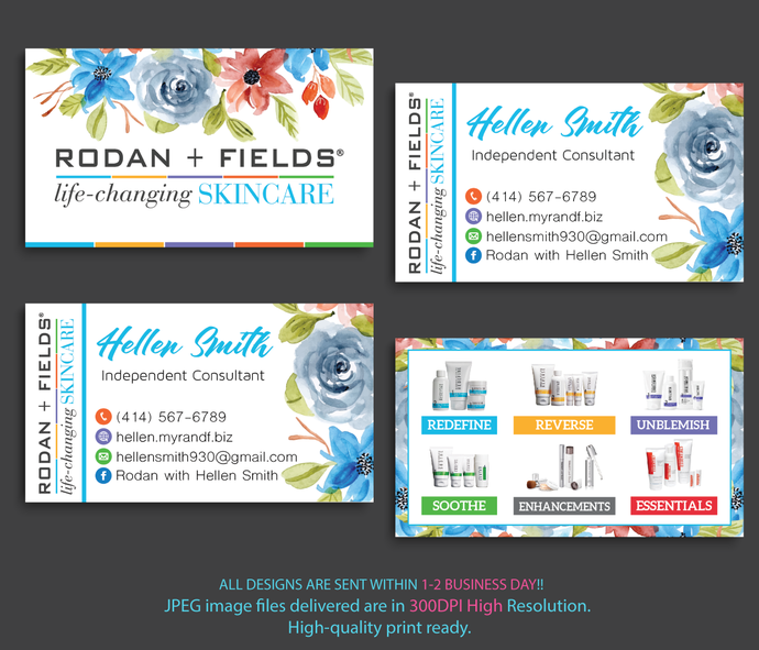 Rodan and fields business cards personalized by digitalart on zibbet rodan and fields business cards personalized rodan and fields business cards reheart Images